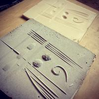 Concrete casting Linocuts (half day course)