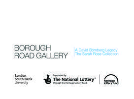 'Writing Bomberg: Poetry & Voice at Borough Road...