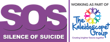 SOS Silence of Suicide & The Kaleidoscope Plus Group logo