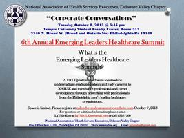 NAHSE DVC's 6th Annual Emerging Leaders Healthcare...