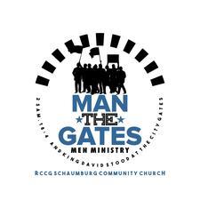 Man The Gates- Men's Ministry of Schaumburg Community Church, Chicago IL. logo