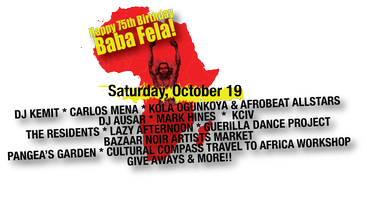Spread Love FELABRATION!!!  Saturday, October 19, 2013...