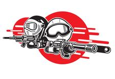 Les Petits Guerriers Airsoft logo