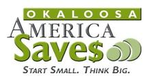 Okaloosa Saves in Partnership with the University of Florida/IFAS Extension logo