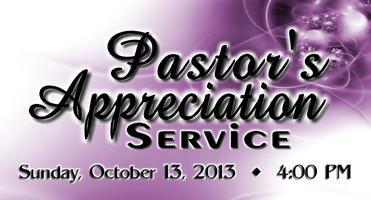PASTOR'S APPRECIATION SERVICE