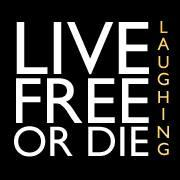 Live Free or Die Laughing & The Comedy Spot logo