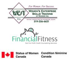 Women's Enterprise Skills Training of Windsor Inc. (WEST) & Financial Fitness logo