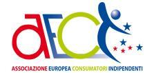 A.E.C.I. LAZIO | ASSOCIAZIONE EUROPEA CONSUMATORI INDIPENDENTI logo