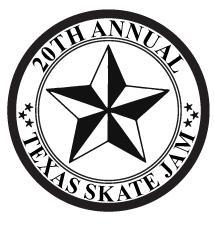 Texas Skate Jam / South Side Skatepark / Damian Hebert  logo