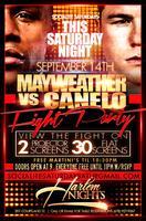 Mayweather vs Canelo Saturday at Harlem Nights
