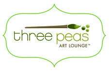 Three Peas Art Lounge logo