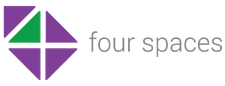 Four Spaces logo