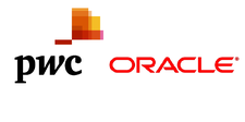 PwC and Oracle logo