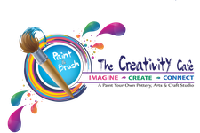 Paint n  Brush The Creativity Cafe logo