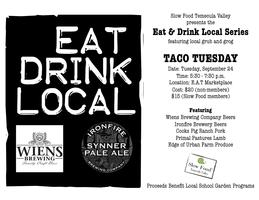 Slow Food Temecula Valley Presents: Taco Tuesday