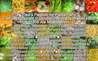 Paul's Passion for Pasta Party at Tree's Restaurant in...
