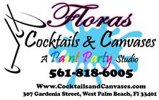 Flora's Cocktails and Canvases logo