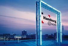 Hamburg@work e.V. [@>>] logo