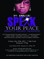3rd Annual Speak Your Peace Against Domestic Violence