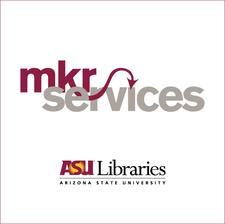 ASU Libraries mkrspace & mkrstudio logo