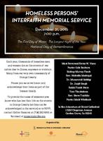 Homeless Persons' Interfaith Memorial Service