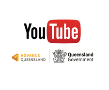 YouTube/Create QLD Partnership logo