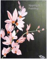 Sip 'N Paint Pink Orchids Sun July 1st 5:00pm