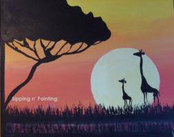 Sip N' Paint Giraffes Sat July 14  7:30pm