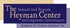 The Samuel & Ronnie Heyman Center on Corporate Governance logo