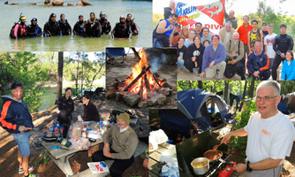 Blue Lagoon Campout & Underwater Pumpkin Carving