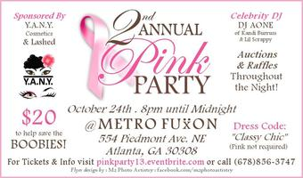 2nd Annual Pink Party - Breast Cancer Charity Event