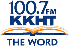 100.7 FM The Word logo