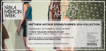 Matthew Arthur S/S '14 Collection at NOLAFW