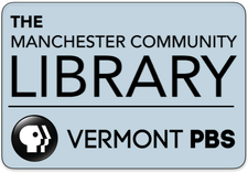Manchester Community Library & Vermont PBS logo