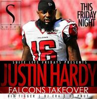 THIS FRIDAY!! JUSTIN HARDY + ATLANTA FALCONS HOSTED BY...