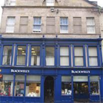 Blackwell's Edinburgh South Bridge logo