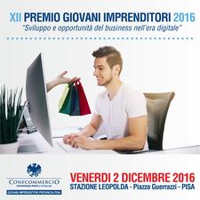 XII Premio Giovani Imprenditori Confcommercio Pisa logo