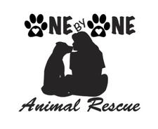 One By One Animal Rescue logo