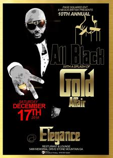 all black and gold affair logo