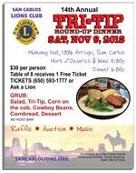 14th Annual Tri-Tip Round-Up Dinner