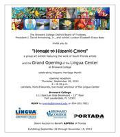 "Hispanic Heritage Art Exhibit ""HOMAGE TO HISPANIC..."