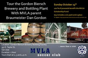 Gordon Biersch Brewery Tours - MVLA Typhoons Black...