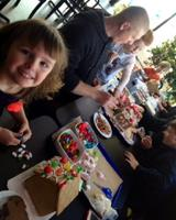 Family Gingerbread House Decorating
