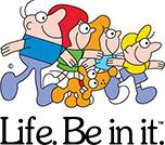 Bupa and Life. Be In It. logo