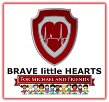 Brave little Hearts for Michael and Friends logo