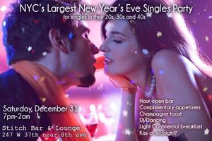 Singles New Year's Eve Party at Stitch. SOLD OUT