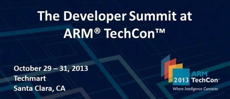 Developer Summit at ARM Techcon
