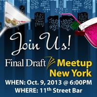 Final Draft New York Screenwriters Meetup