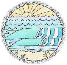 Hannah Katarski - Mermaid's Coin Surf Art logo