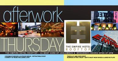 Thursday after work at Empire Hotel Rooftop